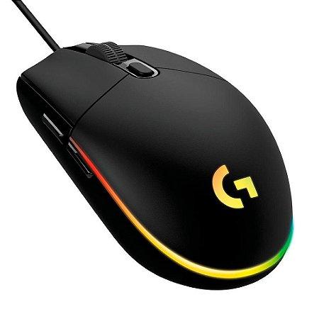 Mouse Ótico Gamer Logitech G203 8000 Dpi Prodigy Lightsync