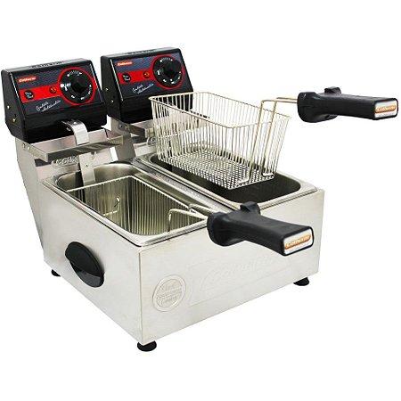 Fritadeira Elétrica Pro 2 Cubas 3l Frita Fácil Cotherm 110v