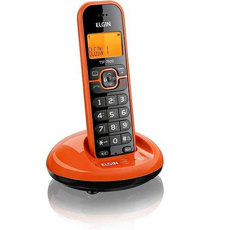 Telefone Sem Fio Elgin Laranja Com Identificador TSF7600