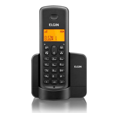 Telefone Sem Fio Elgin Preto Com Identificador TSF8001