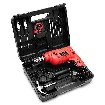 Kit Oficina Mondial Power Tools Furadeira NFFI-07M 650W 110v