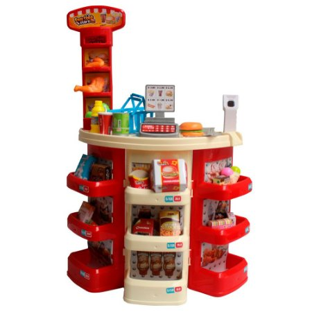 Kit Mini Supermercado Infantil 30 Peças BW101 Importway