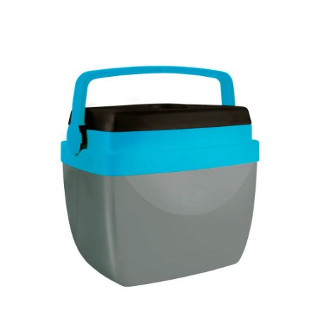 Caixa Térmica Alça Polipropileno Cinza e Azul 12 litros Mor
