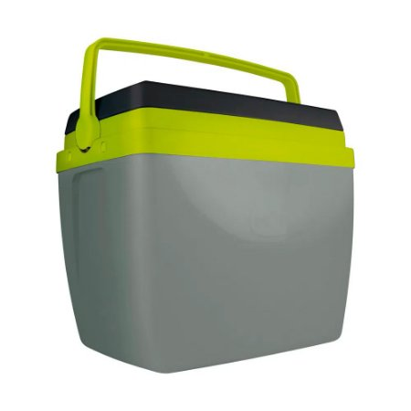 Caixa Térmica Alça Polipropileno Cinza e Verde 34 litros Mor