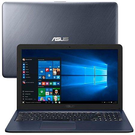 "Notebook Asus Intel Dual Core 4GB 500GB Tela 15.6"" Win 10"