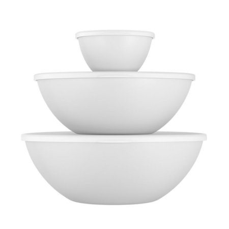 Conjunto 3 Potes Essential 250 ml, 2,5L, 3,5L Branco Coza