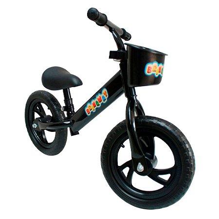 """Bicicleta Sem Pedal 12"""" Importway Balance BW152PT Preto"""