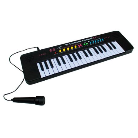 Teclado Musical Infantil 37 Teclas Microfone BW136 Importway