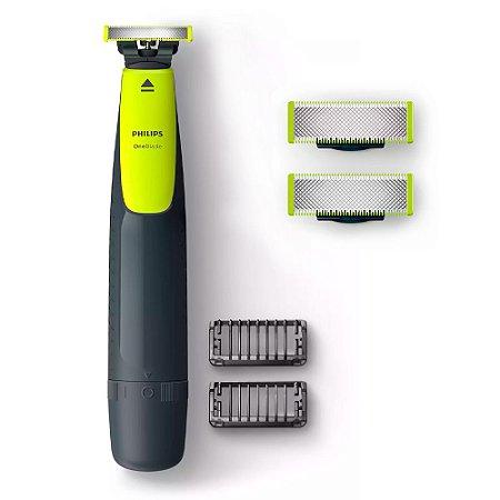 Kit Barbeador Aparador Oneblade Philips 2 Pentes 3 Lâminas QP2510/10