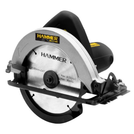 "Serra Circular Madeira 7.1/4"" 1100W Hammer GYSC1100 110v"