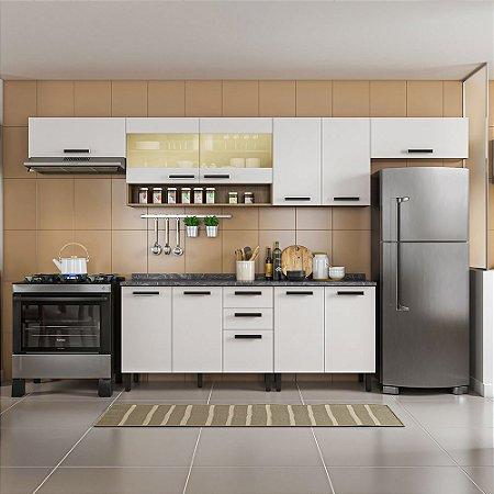 Cozinha 6 Peças Com Vidro New Jazz Off White Itatiaia