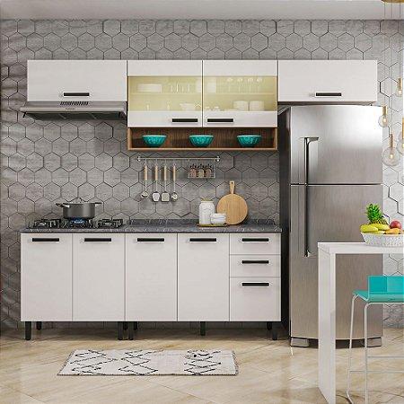 Cozinha 5 Peças Com Vidro New Jazz Cook Off White Itatiaia