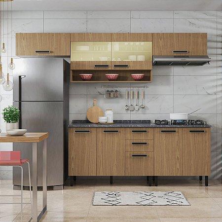 Cozinha 5 Peças Com Vidro New Jazz Cook Freijó Itatiaia