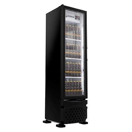 Cervejeira Imbera 230L Porta de Vidro CCV144 Preta 220v