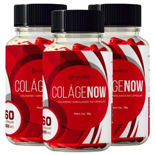 3 Potes de  Colagenow - Colágeno Rejuvenescedor