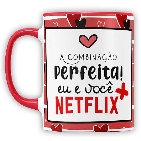 Caneca Personalizada A Combinação Perfeita Eu e Você (Foto e Nome)