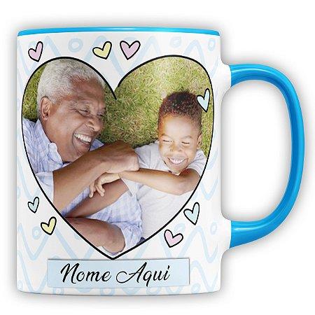 Caneca Personalizada A Melhor Pessoa Do Mundo Para Ser O Meu Avô (Com Foto e Nome)