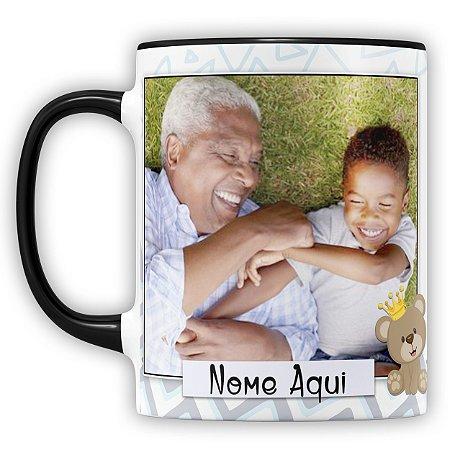 Caneca Personalizada Para O Melhor Avô Do Mundo (Com Foto e Nome)