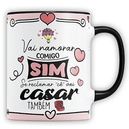 Caneca Personalizada Vai Namorar Comigo Sim (Com Foto e Nome)