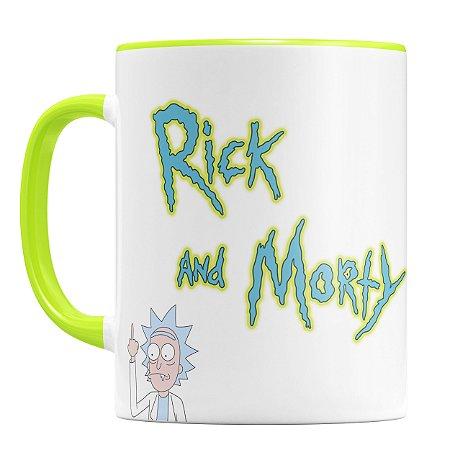 Caneca Personalizada Rick and Morty (Com Nome)