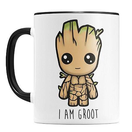 Caneca Personalizada Eu Sou Groot (Com Nome)