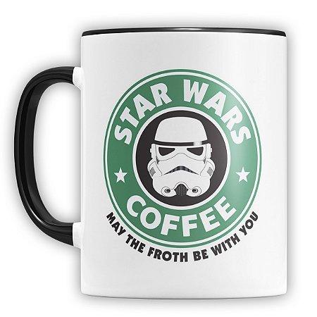 Caneca Personalizada Star Wars Coffee (Com Nome)