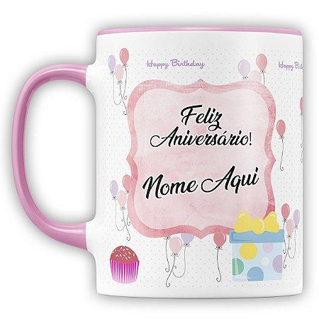 Caneca Personalizada Aniversário (mod.1) (Foto e Nome)