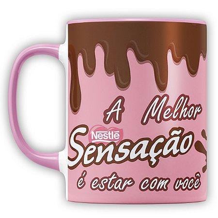 Caneca Personalizada Chocolate A Melhor Sensação É Estar Com Você (Com Foto)
