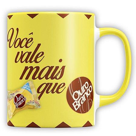 Caneca Personalizada Chocolate Você Vale Mais Que Ouro Branco (Com Foto)