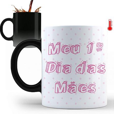 Caneca Personalizada Meu Primeiro Dia das Mães (Foto e Nome)