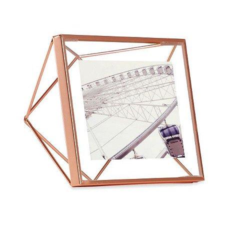 Porta Retrato Prisma Umbra 10x10cm - Cobre