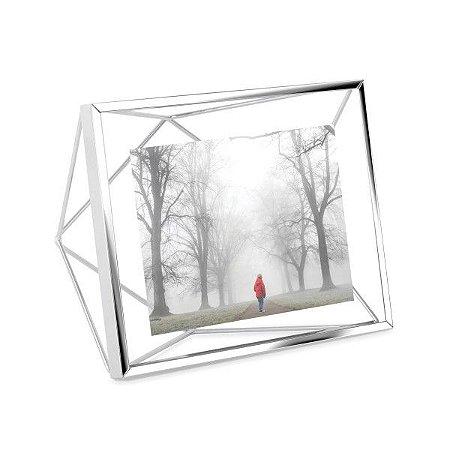 Porta Retrato Prisma Umbra 10x15cm - Cromado
