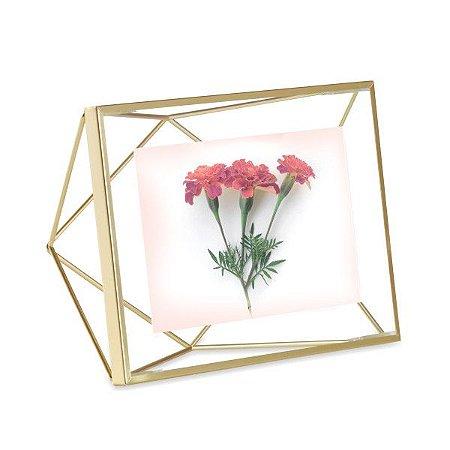 Porta Retrato Prisma Umbra 10x15cm - Dourado