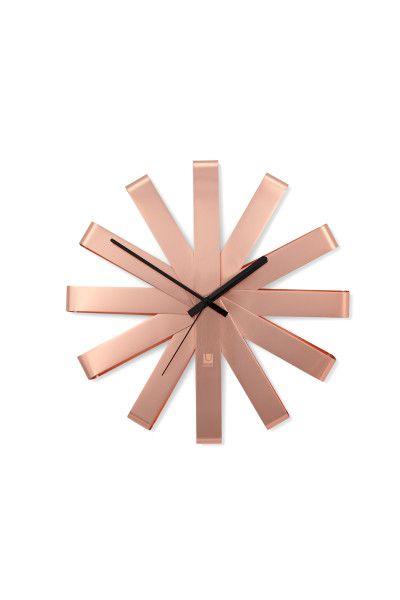 Relógio de Parede Ribbon 30cm Umbra - Cobre