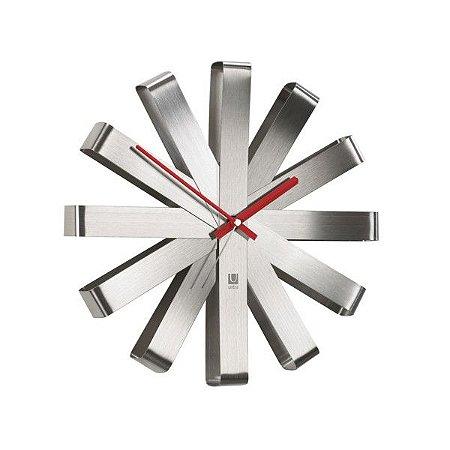 Relógio de Parede Ribbon 30cm Umbra - Aço