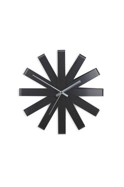 Relógio de Parede Ribbon 30cm Umbra - Preto