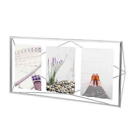 Porta Retrato Prisma Multi Fotos Umbra - Cromado