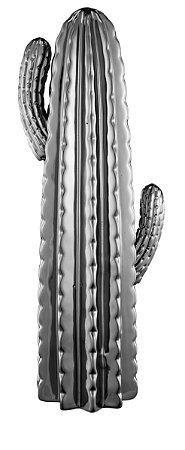 Cacto Decorativo em Cerâmica Grande - Prata