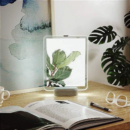 Porta Retrato 20x25cm c/ LED - Nickel