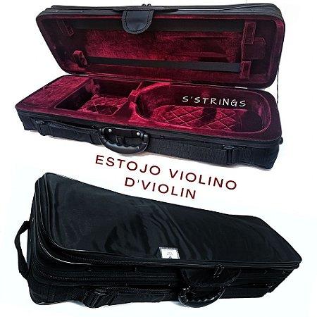 Estojo D'Violin 4/4 Retangular Violino