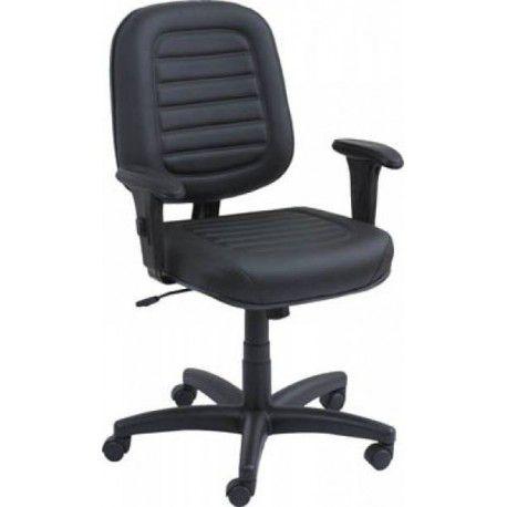 Cadeira Diretor Com Costura Gomada Braço Regulável Espuma Injetada Base Giratória com Pistão a Gás