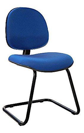 Cadeira Fixa Executiva Pé em S Com Espuma Injetada Base Fixa Lamina Reforçada e tubo 7/8