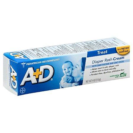 A+D Azul - Pomada Tratamento de Assaduras em Bebês 113g