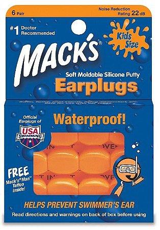 Mack's Protetor Auricular Infantil para Ruídos e Natação