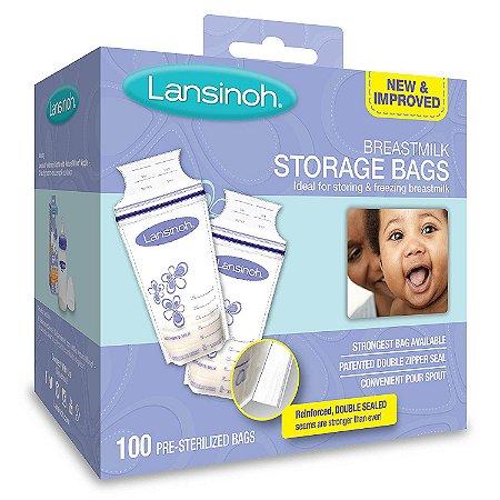 Saquinho para Congelamento de Leite Materno Lansinoh - Caixa ou Bag