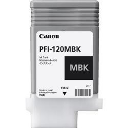 Original PFI-120MBK Cartucho de Tinta Preto PFI 120BK 2884C001AA Canon 130ml