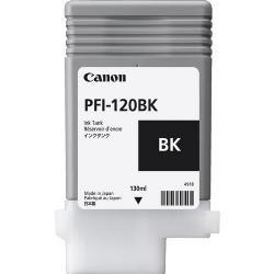 Original PFI-120BK Cartucho de Tinta Preto PFI 120BK 2885C001AA Canon 130ml