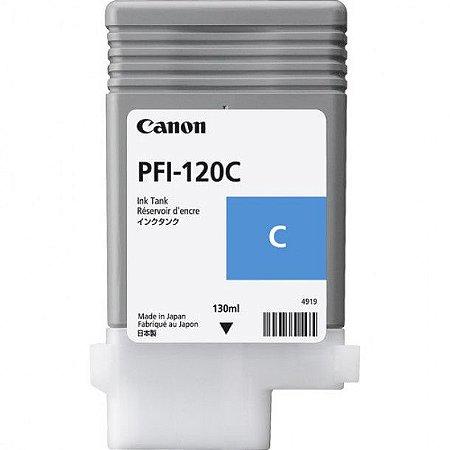 Original PFI-120C Cartucho de Tinta Ciano PFI 120C 2886C001AA Canon 130ml