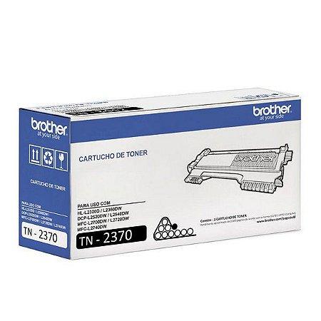 Original TN-2370 Toner Brother TN2370 Preto 2.600Páginas