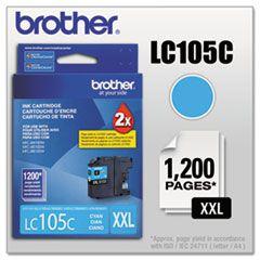 LC105C - Cartucho Original Brother Ciano Autonomia 1200Paginas - Relacionados LC107BK LC105C LC105M LC105Y
